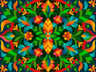 Red flowers mandala decorate decor flower mandala vectorart vector digital illustration digital painting digitalart digital coloringbook flat drawing artist art artwork illustration cartoon illustration design cartoon