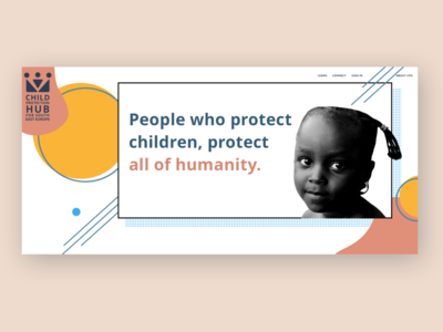 """""""Collage Community"""" by Julia Barry - ChildHub.org Redesign"""