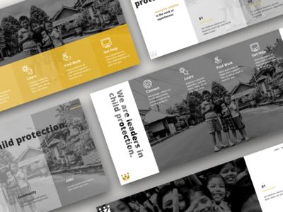 Sleek Social Work variations by Julia Barry - ChildHub Redesign
