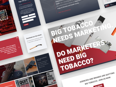 """Quit Big Tobacco"" redesign by Julia Barry"