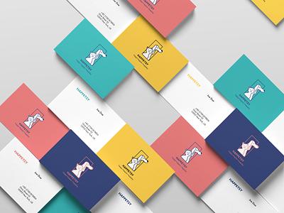 Business card design for Happetsy - pets dog shop brandingstrategy brand design brandidentity colorful vector icon logo website illustration typography branding design businesscard