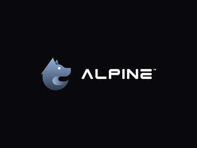 Alpine Branding 2021® professional simple cute sweet wolf logo alpine wolf letter design logo design logodesign logo branding design branding brand identity brand design brand