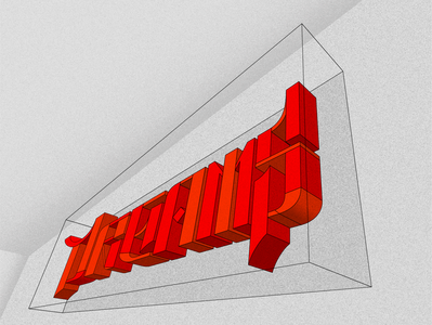 Let the dreams come true handlettering 3d art vector letter h illustration design typography type homies lettering graphic design graphic