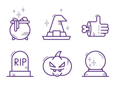 Halloween Icons frankenstein rip jack o lantern pumpkin witch magic halloween icon set icons pack iconset icons design flat adobe illustrator logo illustrator icon vector minimal illustration