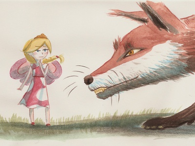 How are you doing, Missy? fox sketch pixie fairies fantasy picturebook illustration childrensbook