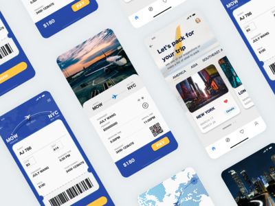 air tickets page 机票页面