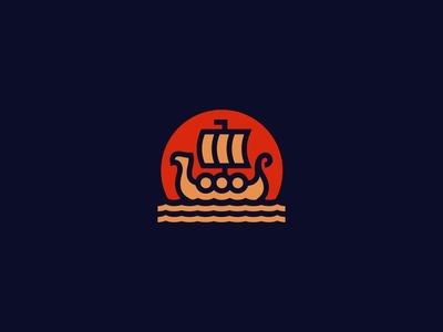 Drakkar Ship Logo