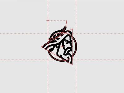 Zeus Logo wellness hipster brand logo clothing brand barber shop barber logo barbers greek god greek mythology jupiter zeus