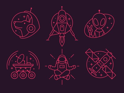 Space Theme Icon Set