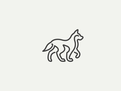 Two Lines Dog Logo