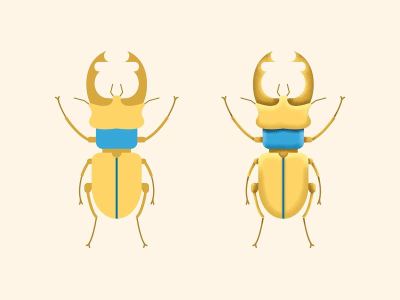 Stag Beetle texture beetle vectorart vector illustration icon