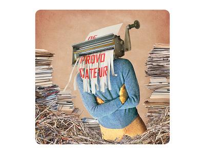 Archetype 7/12: De provocateur funny vintagecollage vintage papercut illustration design collage cards cardgame