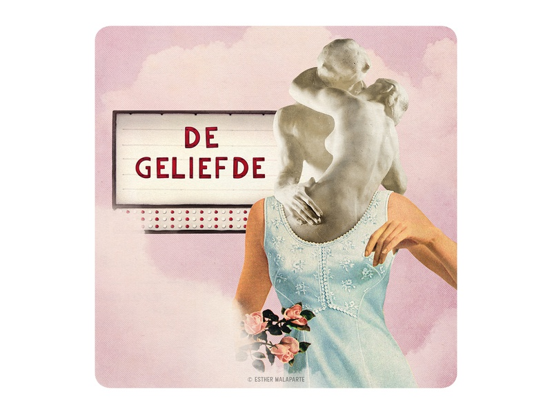 Archetype 9/12: De geliefde vintage collage vintage papercut illustration love funny design creative collage characterdesign character cards cardgame card design