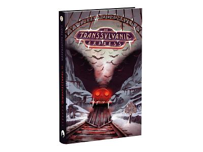 Part 2: De Transsylvanië Express coverdesign surrualism collage illustration childrensbook horrorboek coverillustration bookcover book