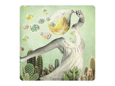 Archetype 5/12: Het onbevangen kind cards design cardgame vintage art illustration surrealism vintagecollage collage