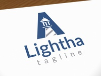 Lighthouse A Letter Logo