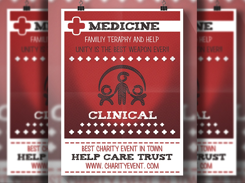 Medical Flyer doctor global world unity safe charity red cross family care blood drive blood donation medical clinic medicine health