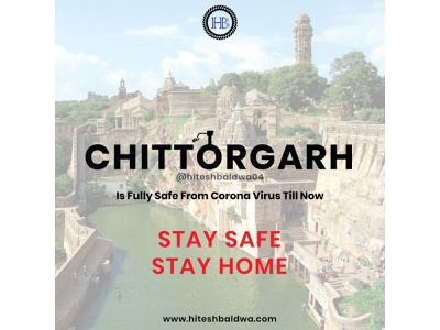 CHITTORGARH IS SAFE FROM CORONA design typography