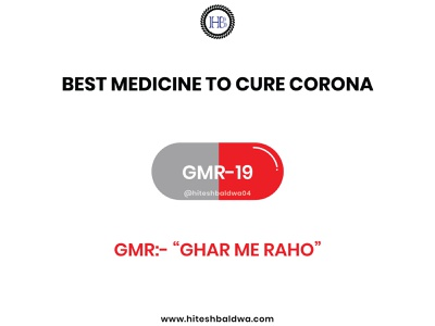 "BEST MEDICINE TO CURE CORONA ""GMR-19"" concept typography stayhome staysafe covid19 corona coronavirus"