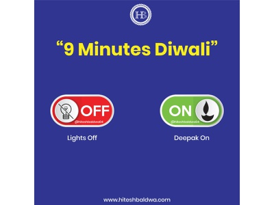9 minutes diwali Deepak on Lights off on 5 April 2020 stayhome staysafe coronavirus corona concept covid19 typography design