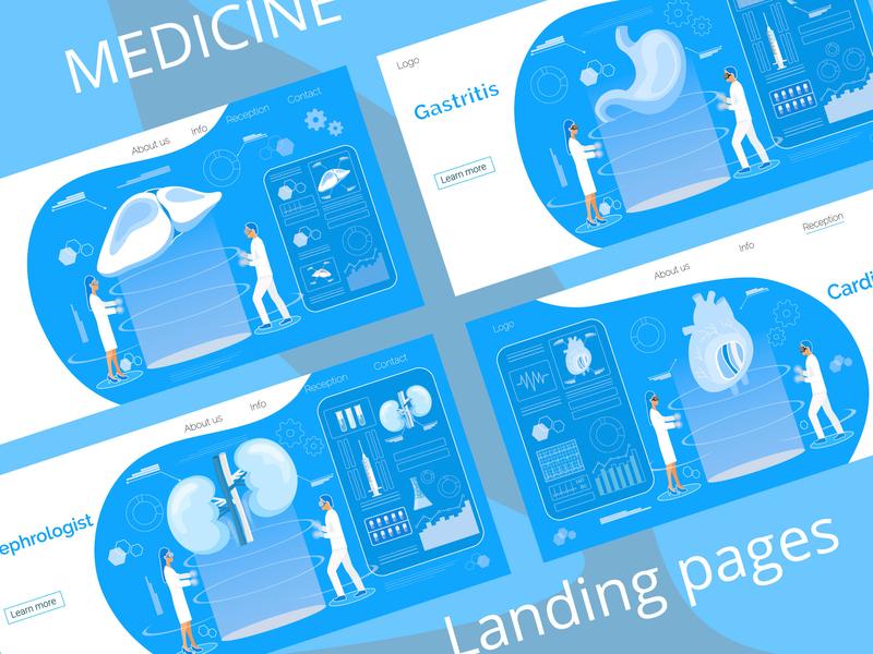 Medicine Bundle 01 landing page medicine stomach kidneys liver heart hologram