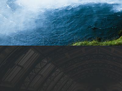Backgrounds waterfall water ceiling pattern hexagon texture header backrounds
