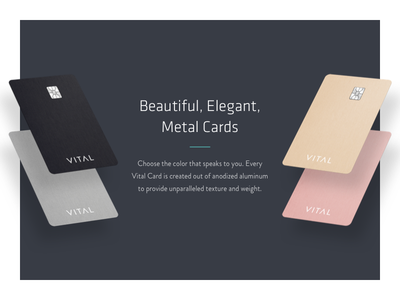 Metal Cards anodized metal cards vital perspective credit card cash back banking