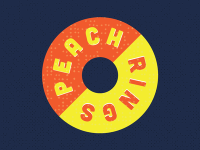 Peach Rings candy circle sugar packaging label rings peach