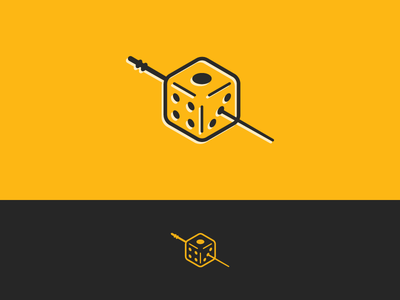 Dice icon yellow logo uno one liquor drink alcohol bar toothpick olive dice