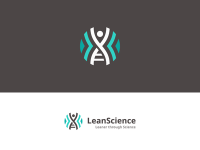 LeanScience lean science weight loss fit health help helix dna human logo