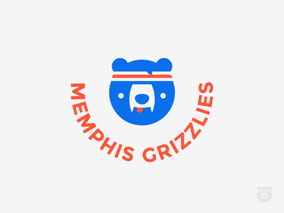 Fan club sport club fan fun headband bear basketball usa nba grizzly memphis