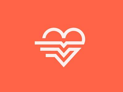 Heartbeat pulse mark valentine love line symbol icon logo heartbeat beat heart