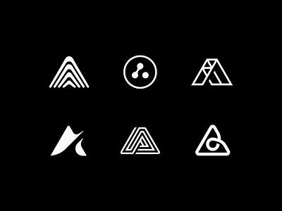 A flow negative symbol icon logo shape line triangle letter a