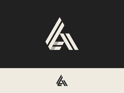 A symbol icon logo shape line triangle letter a