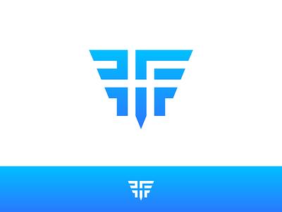HF wing h f hf monogram logo symbol icon thick fly typography