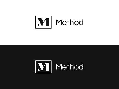 Method typography symbol icon letter marketing logo method m
