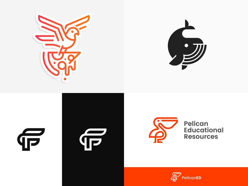 2018 #Top4 :) mark symbol vector animal 2018 top4shots top4 pelican f whale pizza pigeon design logo