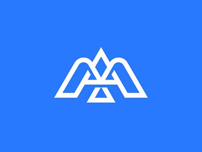 Bird design icon symbol mark logo triangle line dove animal bird