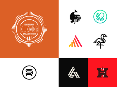 LogoLounge 11 eleven logo animal sr monogram torch h a crane octopus whale book logolounge