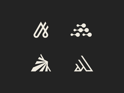 A line abstract symbol mark logo movement motion momentum triangle letter a