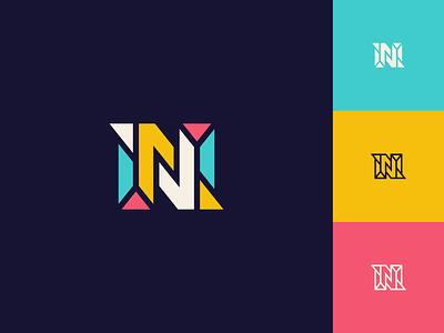 N line design mark symbol icon logo color switch transfer sharp letter n