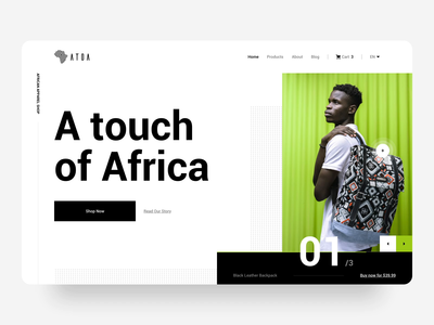 Atoa - Web Interaction ecommerce africa motion uxui minimal ux ui design animation