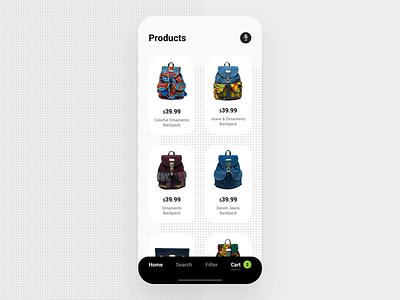 Atoa - Mobile App ecommerce mobile design animation motion app app design ios uxui ui ux minimal