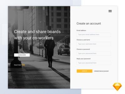Create an account  [ Free sketch]