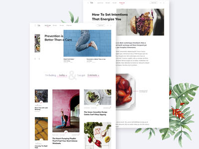 Lifestyle Blog insurance liv responsive read news minimal lifestyle magazine blog design card blog