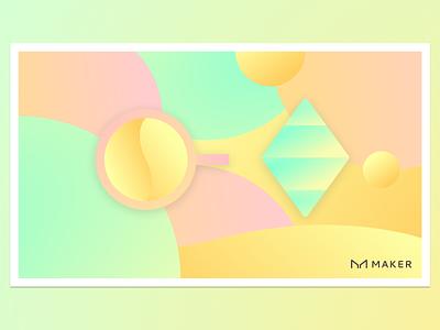 FriDAI Brunch branding gradient abstract makerdao crypto dai