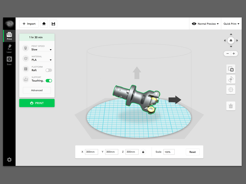 Web app for 3D printing by Hazel Yang on Dribbble