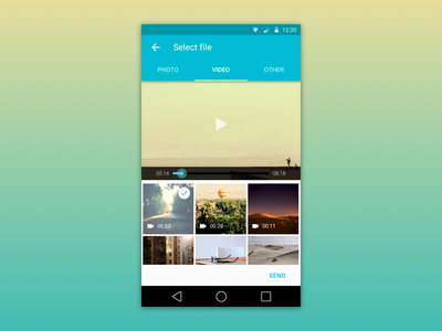Material design video android ui material design