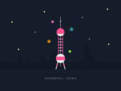 Shanghai night tower shanghai