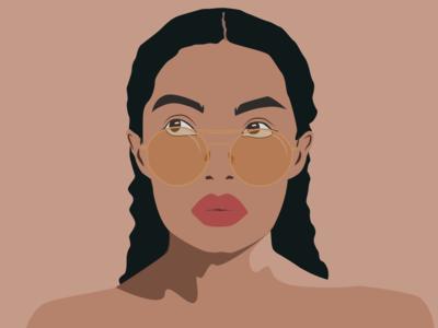 flat minimal portrait
